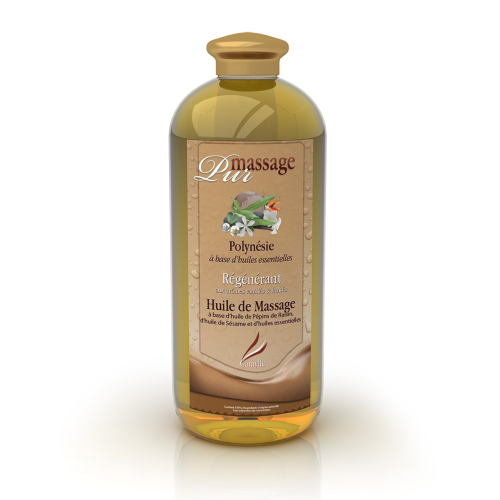 Pur massage Polynésie 1000 ml